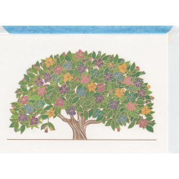 Card and envelop BOHEMIA 2-sided A6 - Summer Tree