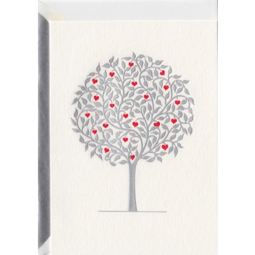 Card and envelop BOHEMIA 2-sided A6 - Silver Wedding