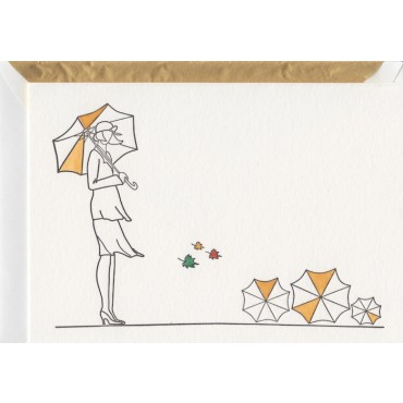 Card and envelop BOHEMIA 2-sided A6 - Autumn Lady
