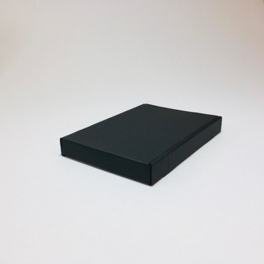 Box from corrugated cardboard 1,5 mm 15,5 x 21,5 x 2,8 cm - Black