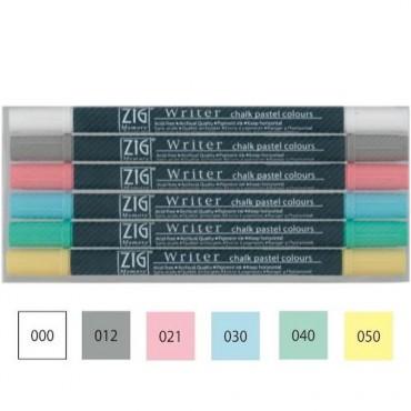Sketching pen WRITER Chalk Pastel SET - 6 colors