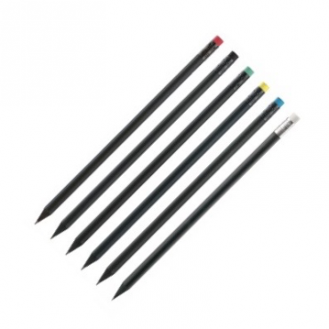 Pencil Ragtag BLACK HB with eraser - DIFFERENT COLORS
