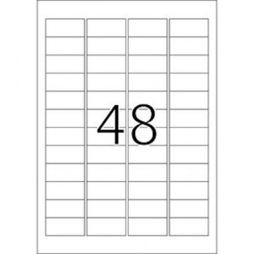 Etiketid OUTDOOR (ilmastikukindel) 5 lehte - 45,7 x 21,2 mm - 48 tk lehel