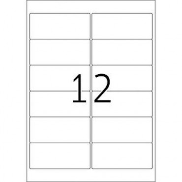Labels OUTDOOR 5 Sheets - 99,1 x 42,3 mm - 12 pcs on sheet
