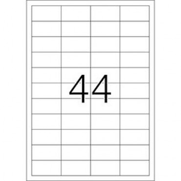 Labels OFFICE 10 Sheets - 48,3 x 25,4 mm - 44 pcs on sheet
