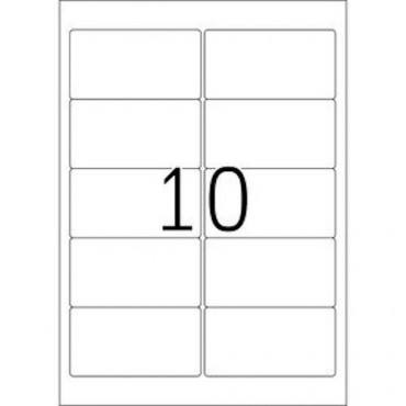 Labels OFFICE 10 Sheets - 96,0 x 50,8 mm - 10 pcs on sheet