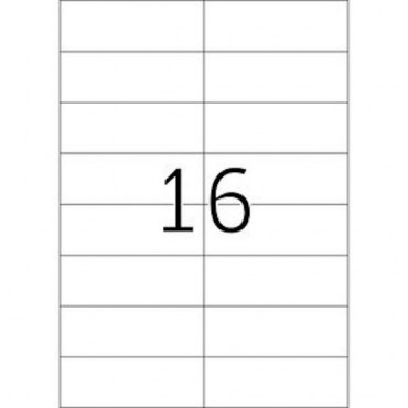 Labels OFFICE 10 Sheets - 105,0 x 37,0 mm - 16 pcs on sheet