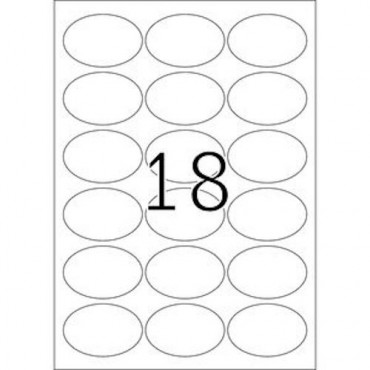 Label REMOVABLE 5 Sheets - 63,5 x 42,3 mm - 18 pcs on sheet