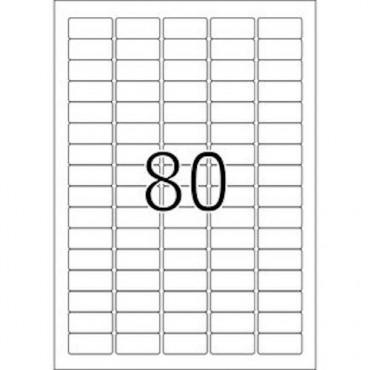 Etiketid EEMALDATAV 5 lehte - 35,6 x 16,9 mm - 80 tk lehel