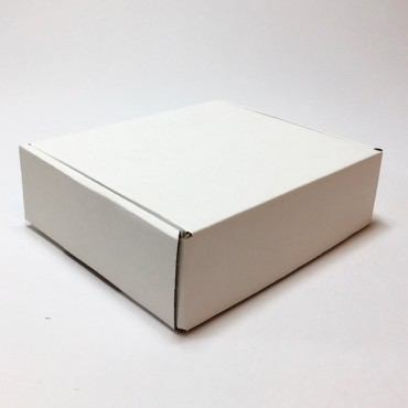 Box from corrugated cardboard 1,5 mm 14 x 16 x 5 cm - Brown/white