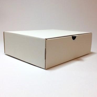 Box 21 x 25 x 8 cm - Brown/white cardboard