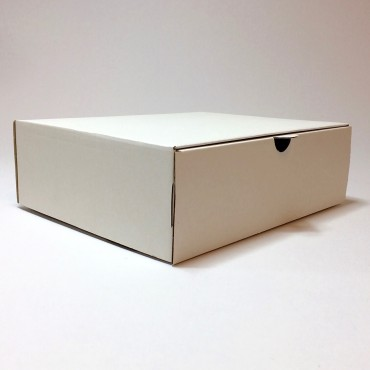 Box 21 x 25 x 8 cm - Brown/white cardboard
