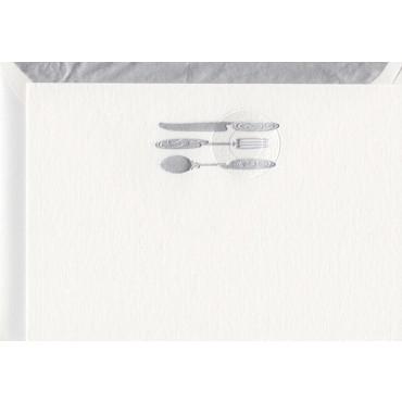 Flat card and envelop BOHEMIA A6 - Silverware