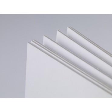 Board WHITE 1,5 mm 1005 gsm 50 x 80 cm - White