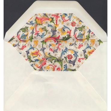 Envelopes ROSSI lined 12 x 18 cm 100 pcs - Florentine style