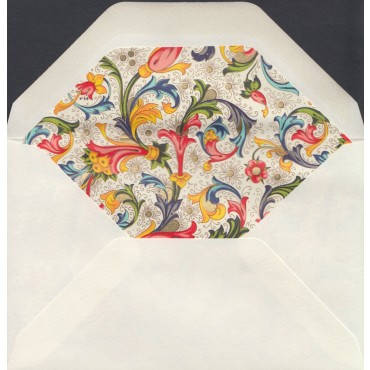 Envelopes ROSSI lined 9 x 14 cm 10 pcs - Florentine style