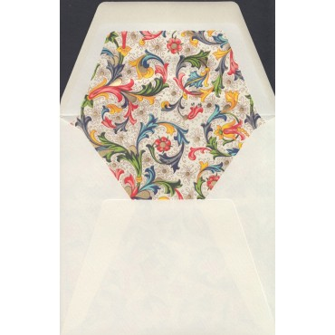 Envelopes ROSSI lined 12,7 x 12,7 cm 10 pcs - Florentine style
