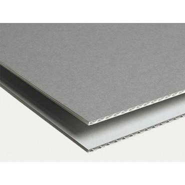 Corrugated ARCHIVE BOARD 1,6 mm 105 x 175 cm - Dove Grey/white