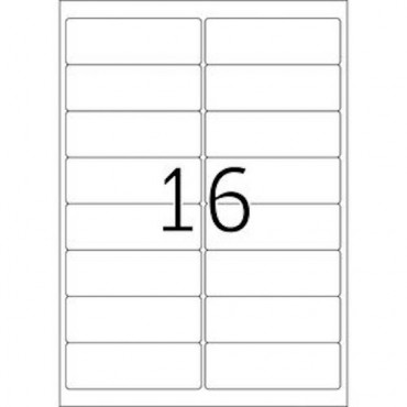 Labels OFFICE 10 Sheets - 99,1 x 33,8 mm - 16 pcs on sheet