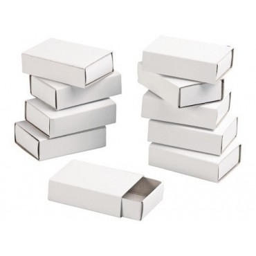 Box for decoration matchbox 5,2 x 3,5 x 1,4 cm 10 Pieces - White