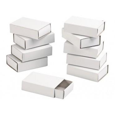 Box for decoration matchbox 5,2 x 3,5 x 1,4 cm 10 Pieces - White