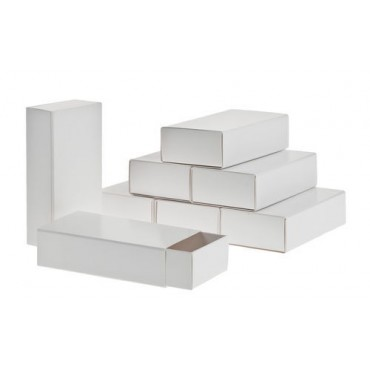 Box for decoration matchbox 6 x 11,4 x 3,2 cm 8 Pieces - White