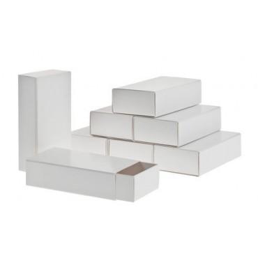 Box for decoration matchbox 6 x 11,4 x 3,2 cm 8 Pieces - White
