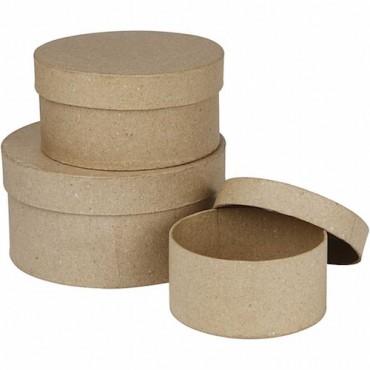 Boxes ROUND Ø 10 + 12 + 14 cm 3 Pcs