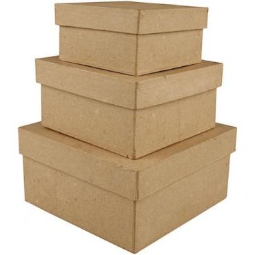 Boxes SQUARE dimensions 10 + 12 + 15 cm 3 pcs