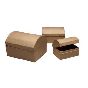 Treasure Chest Box L: 9 + 11 + 13 cm 3 pcs