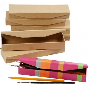 Pencil case 6 x 21 x 2,5 cm with press magnet closure 12 pcs