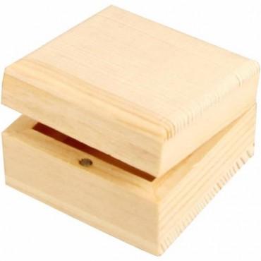 Jewellery box 6 x 6 x 3,5 cm with magnet