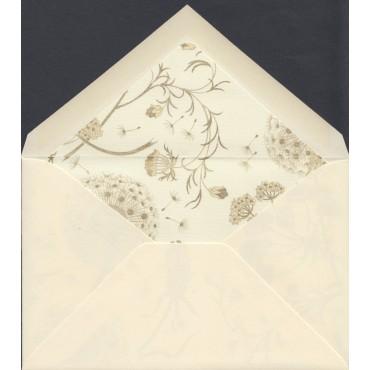 Envelopes ROSSI lined 9 x 14 cm 10 pcs - Natural white/Dandelion