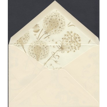 Envelopes ROSSI lined 11,5 x 16,5 cm 100 pcs - Natural white/Dandelion