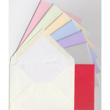 Envelopes ROSSI lined 7 x 10 cm 10 pcs - DIFFERENT COLORS