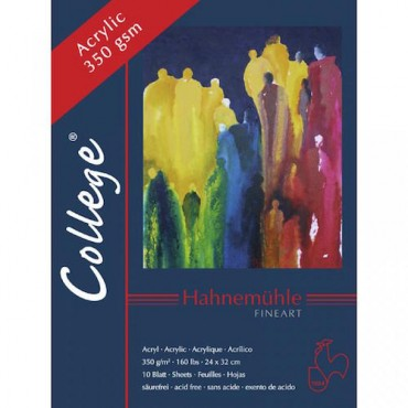 Acrylic pad COLLEGE 350 gsm 30 x 40 cm 10 Sheets