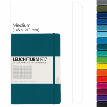 Notebook MEDIUM 80 gsm 14,5 x 21 cm (A5) 249 squared sheets - DIFFERENT COLORS