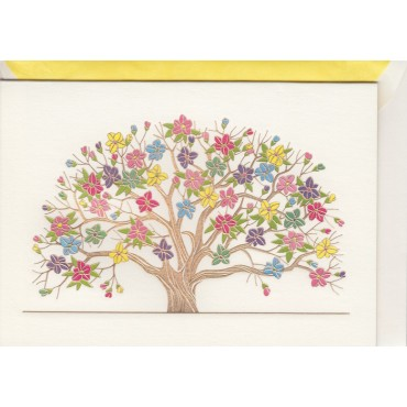 Card and envelop BOHEMIA 2-sided A6 - Spring tree
