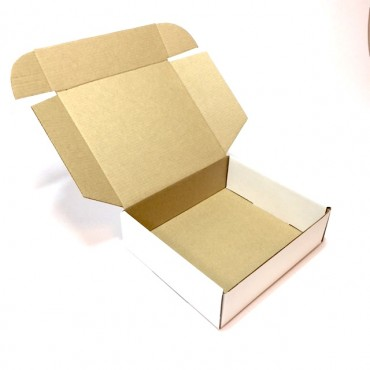 Box from corrugated cardboard  18 x 20 x 6 cm - Brown/brown