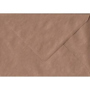 Envelopes KSH COLORED 16,2 x 22,9 cm (C5) 120 gsm 20 pcs. - Brown ribbed