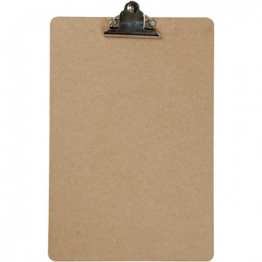 Clipboard with metal clip 21 x 34 cm thickness 3mm - Brown
