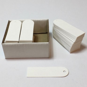 Labels CARDBOARD 20 x 60 mm 150 Pcs. - White