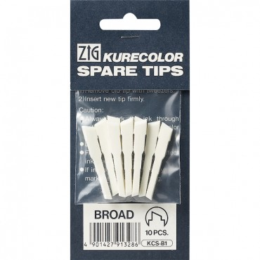 Spare tips for KURECOLOR Twin WS 10 Pcs. - Broad