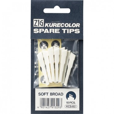 Spare tips for KURECOLOR Twin WS 10 Pcs. - Soft broad