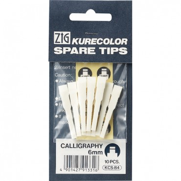 Spare tips for KURECOLOR Twin WS 10 Pcs. - Calligraphy 6 mm