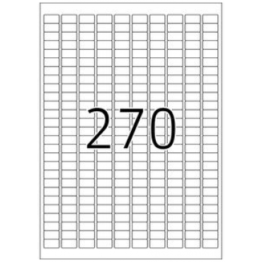 Label REMOVABLE 5 Sheets - 17,8 x 10,0 mm - 270 pcs on sheet